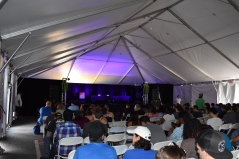 The Inside of the Comedy Tent on the first day before all the insanity! Photo Source: Shannon Parola
