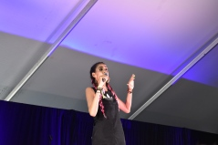 Marcella Arguello kept everyone on their toes in both comedy events. Photo Source: Shannon Parola