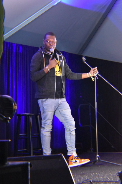 Michael Che was upset that he couldn't stay longer. His set was amazing! Photo Source: Shannon Parola