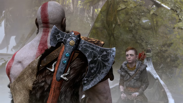 Kratos Axe and Boy