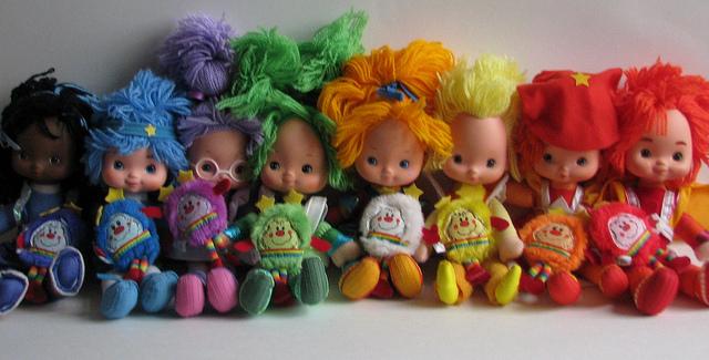 8 Original Rainbow Brite dolls