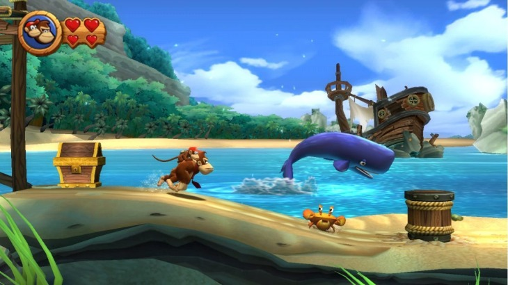 Donkey Kong Country Returns - Beach Level