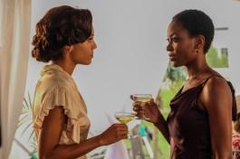 Maisie Richardson-Sellers as Amaya Jiwe/Vixen (left) and Tracy Ifeachor as Kuasa (right). Photo courtesy of DC Legends TV.