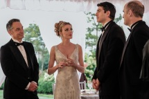 Pictured (L-R): Todd Thomson as Eddie Rothberg, Bar Paly as Helen of Troy and Brandon Routh as Ray Palmer/Atom. Photo courtesy of DC Legends TV.