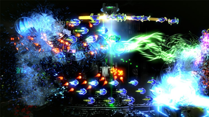 Resogun PS4 Pro gameplay