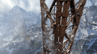 There are a lot of heights in this game - Tomb Raider (2013)