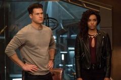 Nick Zano as Nate Heywood/Steel (left) and Maisie Richardson-Sellers as Amaya Jiwe/Vixen (right). Photo courtesy of DC Legends TV.